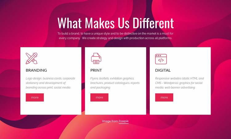 Branding & Digital Creative Studio WordPress Website Builder