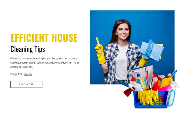 Efficient house cleaning tips HTML Template