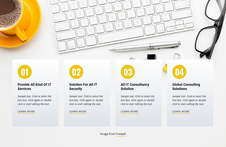 Providing leading solutions One Page Template