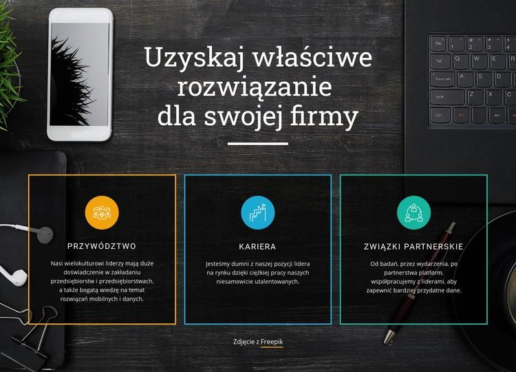Najlepsze rozwiązania dla biznesu Szablon witryny sieci Web