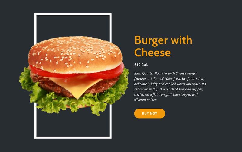 Enjoy Fresh Burgers Web Page Design