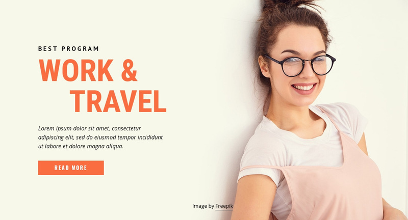 Programs to work and travel  Web Page Designer