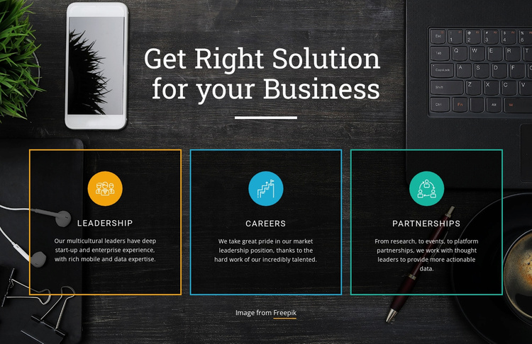Top solutions for business Website Template