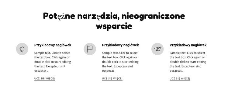 Potężne narzędzia i wsparcie Szablon witryny sieci Web
