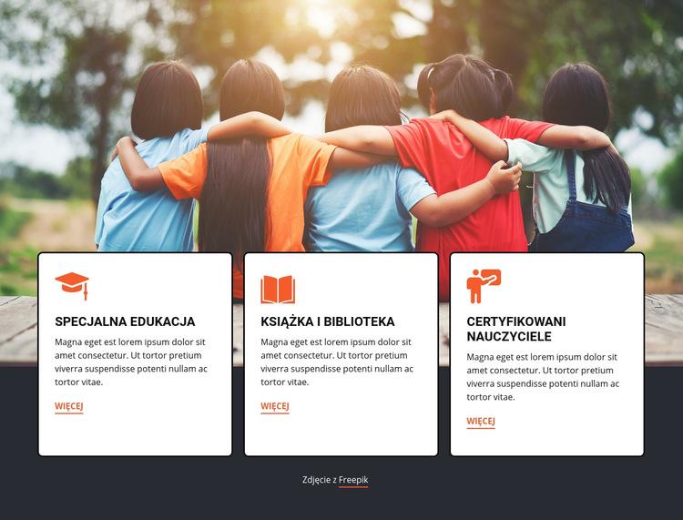 Edukacja na obozach letnich Szablon witryny sieci Web