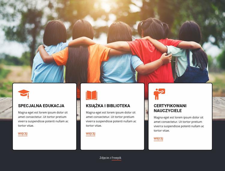 Edukacja na obozach letnich Szablon Joomla