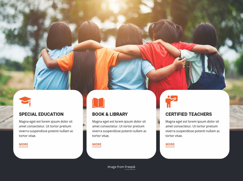 Summer camp education Web Page Design