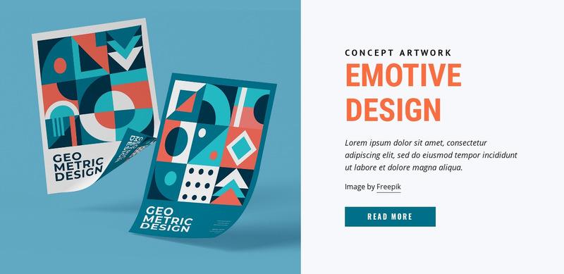 Emotive branding Web Page Designer