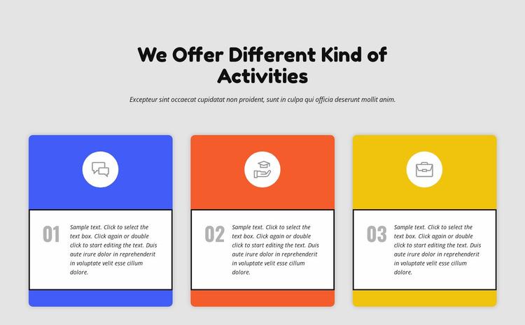 Colored columns Website Builder