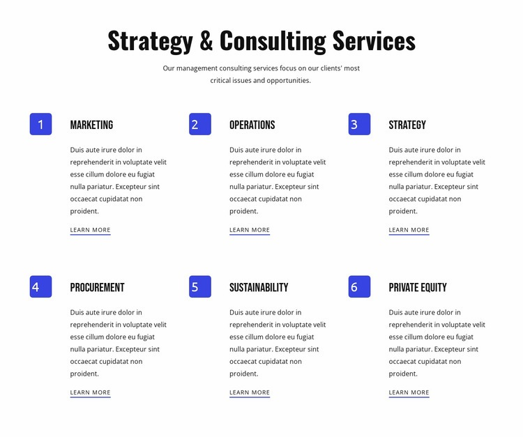 Strategy and agile services Html Code Example