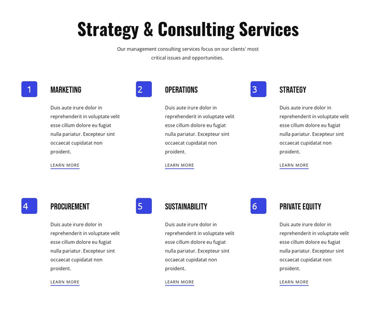Strategy and agile services HTML Template