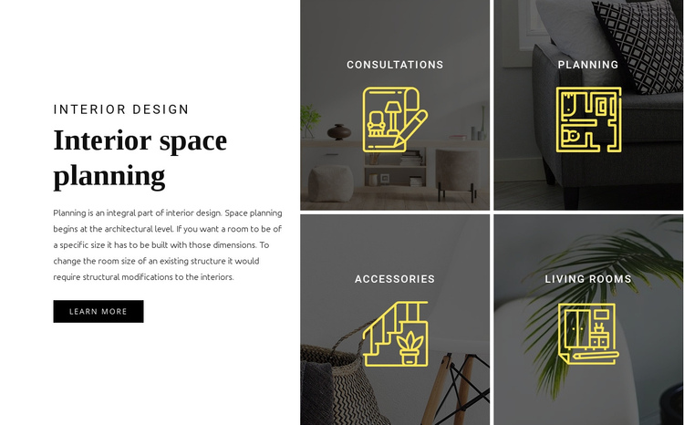 Interior planning One Page Template