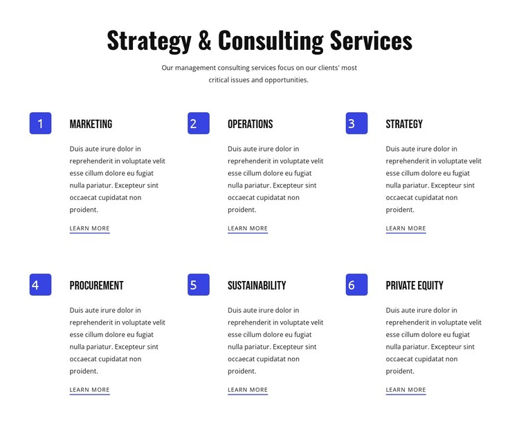 Strategy and agile services Static Site Generator