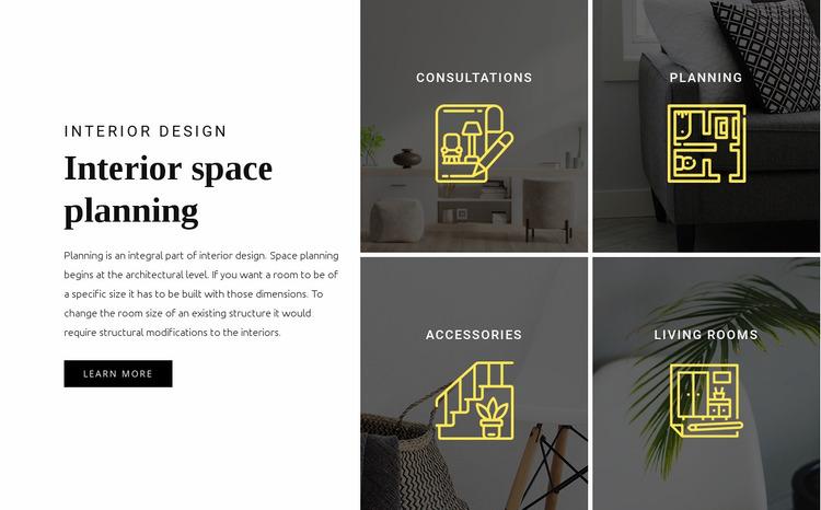 Interior planning Website Mockup