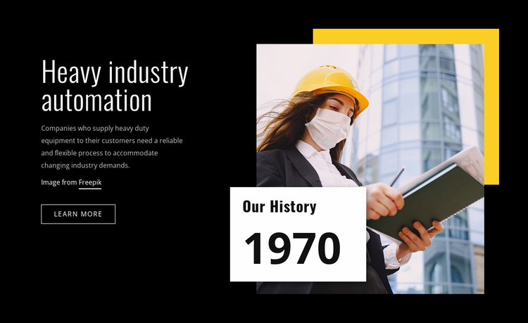 Heavy industry automation Website Template