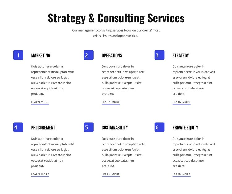 Strategy and agile services WordPress Template