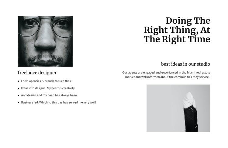 Innovation in design sphere HTML Template
