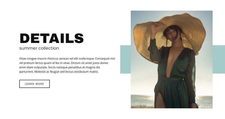 Summer collection HTML Template