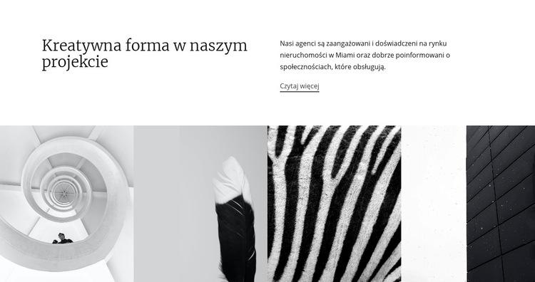 Projektuj tekstury i kształty Szablon witryny sieci Web