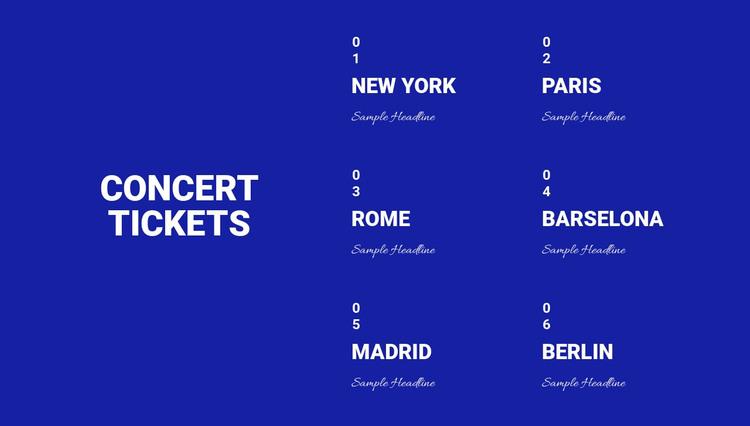 Concept Tickets Web Design