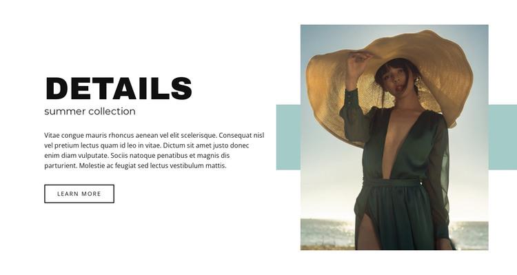 Summer collection Web Design