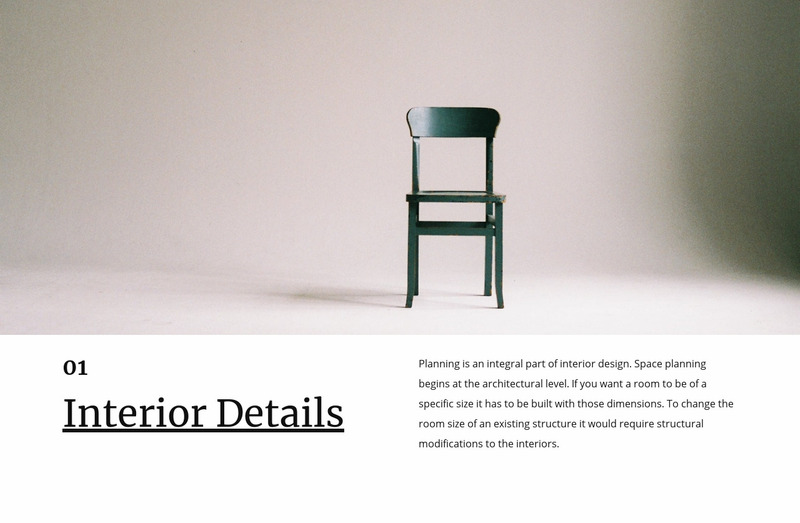 Small interior details Web Page Design