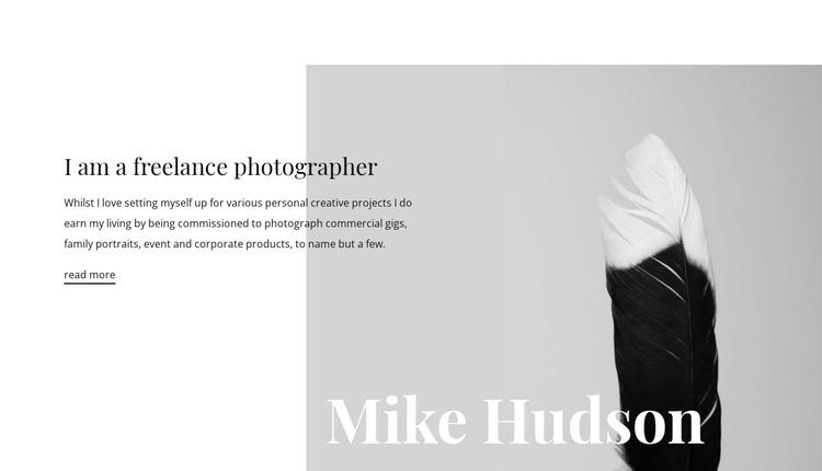 Freelance photographer  Website Builder Software