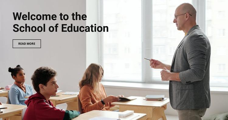 School of education  Website Mockup