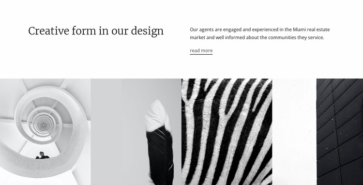 Design textures and shapes Website Template
