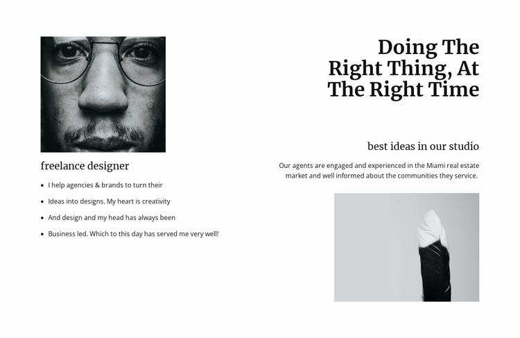 Innovation in design sphere Website Template