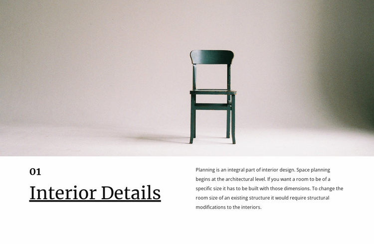 Small interior details Landing Page