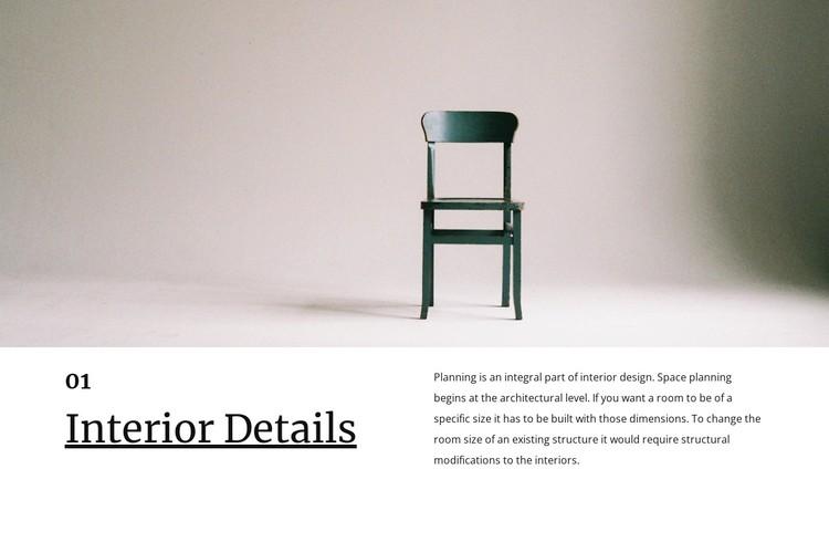Small interior details WordPress Template