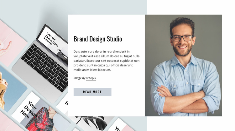 We want to do great work Website Template