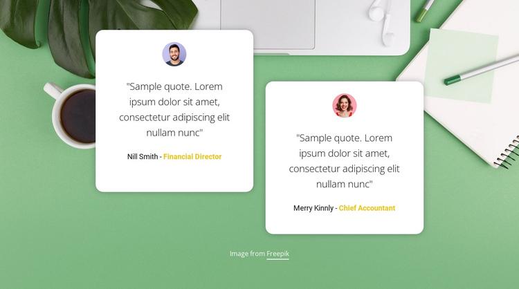 Customer Testimonials One Page Template