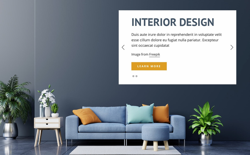 Luxury and classic furniture Web Page Designer