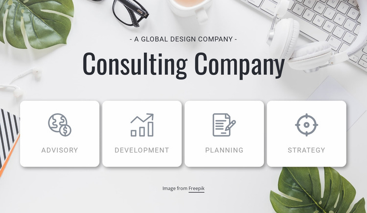 Business specific IT solutions Website Mockup