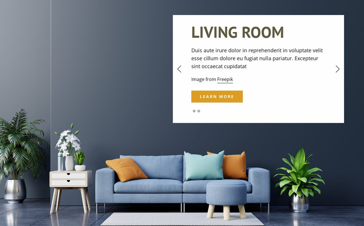 Luxury and classic furniture Website Mockup