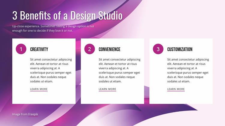 Benefits of Design Studio Website Mockup