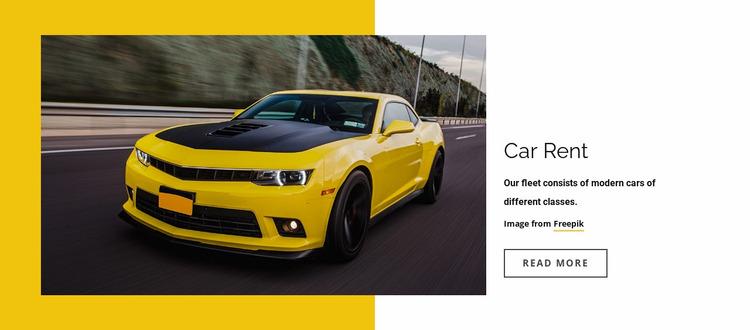 Modern rental of cars Website Mockup