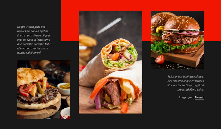 Fast Food Menu Homepage Design