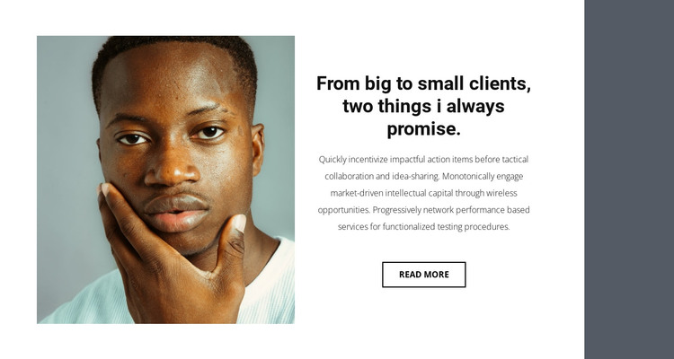 About business strategy HTML Template