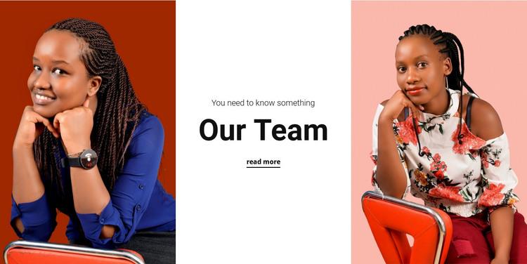 Women's team HTML Template