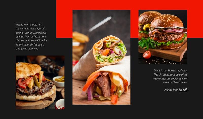 Fast Food Menu Web Page Designer