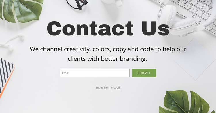 Email consultancy solutions One Page Template