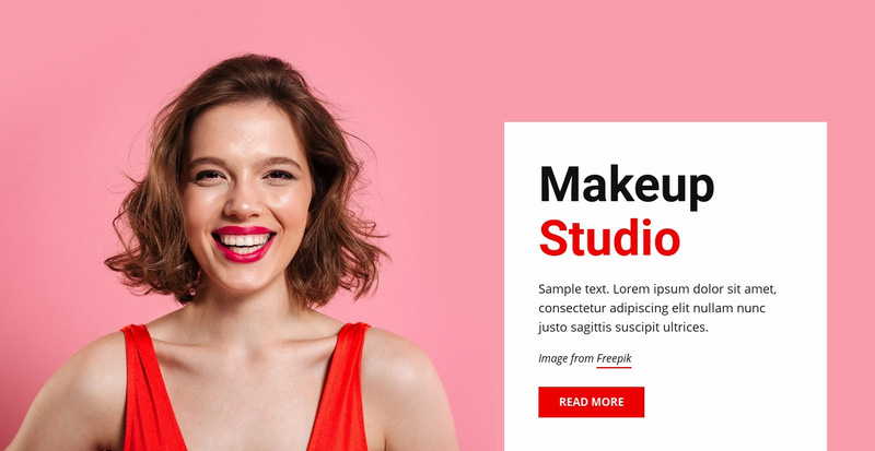 Makeup and beauty Web Page Designer