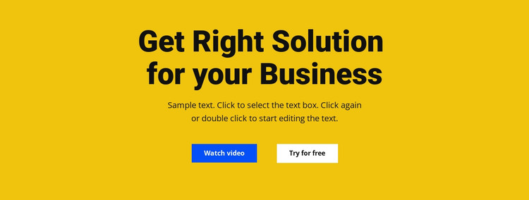 Heading, text and button HTML Template
