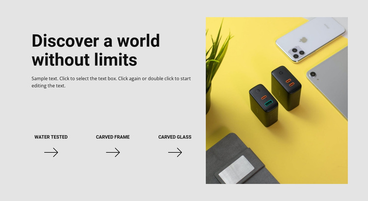 World without limits HTML5 Template