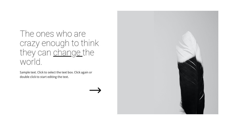 The quotes about design HTML5 Template