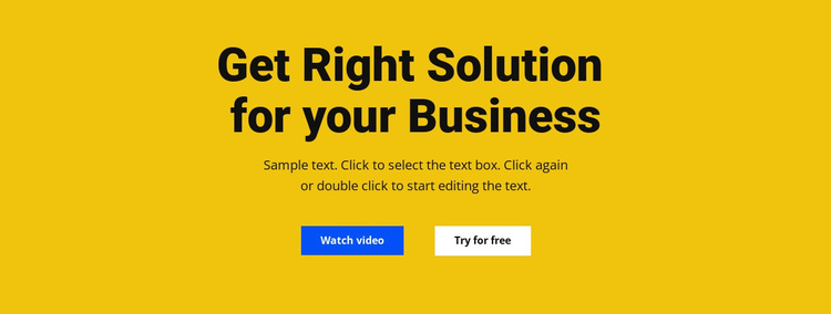 Heading, text and button Joomla Template