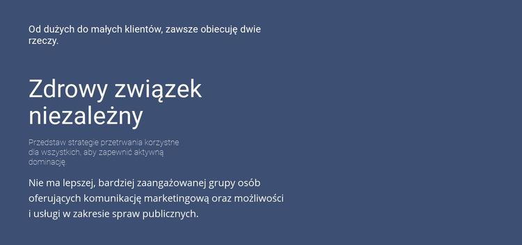 Nagłówki i tekst Szablon witryny sieci Web